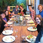 Dinner with Artmonks-in-residence 2012